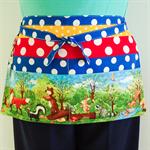 Teacher utility tool vendor craft preschool daycare half apron with 6 pockets