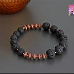 Lava Stone Oil Diffuser Bracelet-Copper-Yoga-Boho Chic-Beaded bracelet