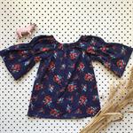 Baby Dress - Navy Rose