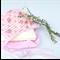 Baby girls bonnet, vintage floral fully lined reversible pink stripe 6-12m