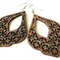 Dark Coffee Brown Marrakesh Style Wooden Boho Ethnic Style Earrings