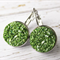 Sparkly Apple Green Druzy Drop Earrings in Stainless Steel Settings