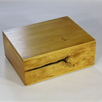 Radiata Pine timber box (stained) art#0367