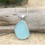Soft Blue Sea Glass Pendant