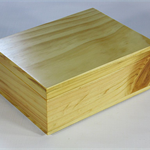 Radiata Pine timber box art#0366