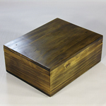 Radiata Pine timber box (stained) art#0368