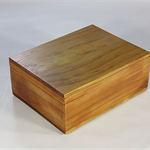 Radiata Pine timber box (stained) art#0365