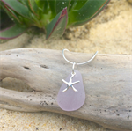 Purple Sea Glass Starfish Pendant