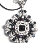 Rivoli Beaded Pendant Necklace