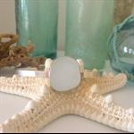 White Sea Glass Cuff Bracelet