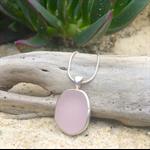 Soft Purple Sea Glass Pendant