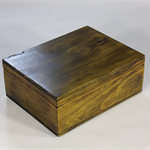 Radiata Pine timber box (stained) art#0361