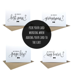 Best Man Card, Groomsman Card, Bridal Party Card, Wedding Card, WED058