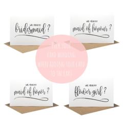 Bridesmaid Card, Flower Girl Card, Bridal Party Card, Proposal Card, WED057
