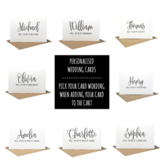 Personalised Bridal Party Cards, Proposal Cards, WED061