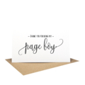 Thank you for being my ?  Wedding Card - Script Writing Card - WED060