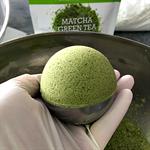 Organic Matcha Green Tea Bath Bomb with Epsom Salts | Large 160g