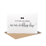 To My Soon to be Husband On Our Wedding Day Card -Script Writing  WED064