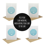 Will you be my ? - Wedding Card - Blue Circle - WED069