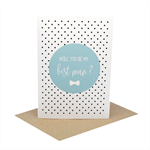 Will you be my Best Man Card - Wedding Card - Blue Circle - WED069