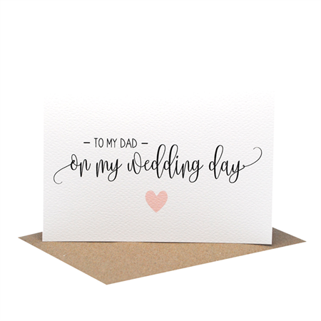 To My Dad On My Wedding Day | Wedding Card | Script Writing | WED066