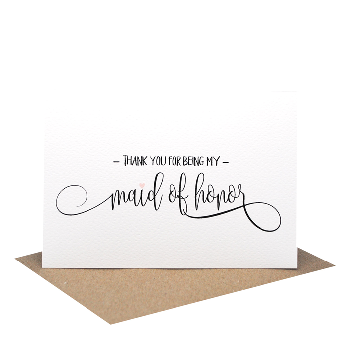 Thank You For Being My Bridesmaid Wedding Card Script Writing
