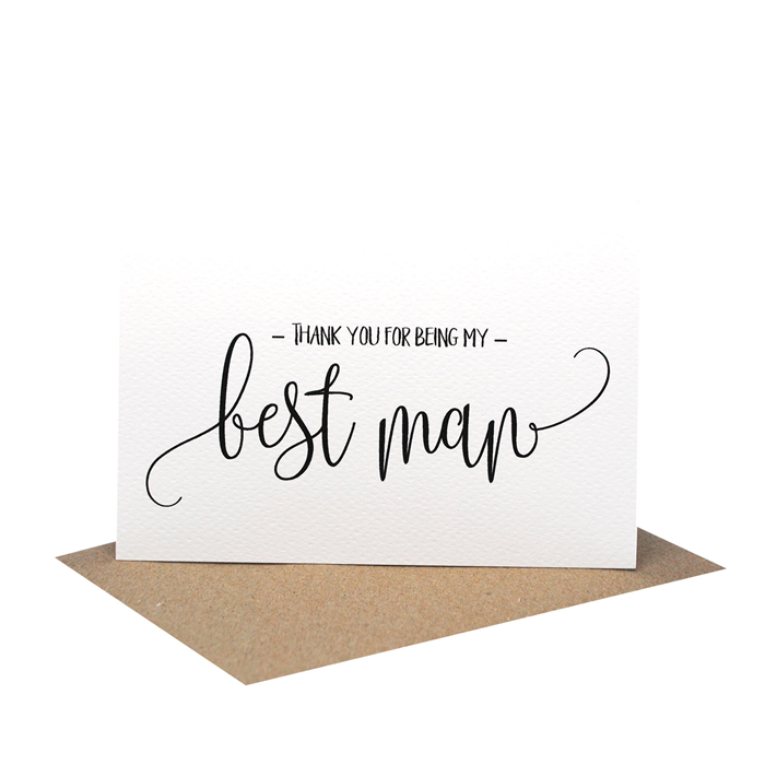 Thank You For Being My Best Man Wedding Card Script Writing Wed060