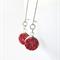Sparkly Cranberry Red Resin Druzy Drop Kidney Hook Earrings