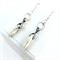 White Howlite Spike Earrings with Sterling Silver Earring Hooks