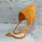 Mustard Newborn Crochet Baby Pixie Bonnet