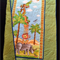 "NO. 6 - AFRICAN ANIMAL QUILT 49"" X 29.5"""