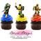 TMNT Edible Wafer Stand-Up Cupcake Toppers - Set of 16