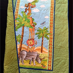 """NO. 6 - AFRICAN ANIMAL QUILT 49"""" X 29.5"""""""