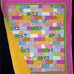 NO. 56 - PINK/GREEN AND ORANGE PATCH QUILT 