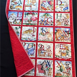 "NO. 24 - A - Z RED QUILT 41"" X 33.5"""