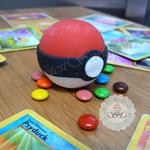 6x 3D Edible Fondant Poke Ball Surprise cupcake toppers Pokemon party