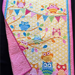 NO. 23 - YELLOW AND PINK OWL QUILT