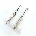 White Howlite Spike Earrings with Bronze Earring Hooks