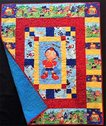 "NO. 4 - HOORAY FOR NODDY QUILT/PLAY MAT 43"" X 36"""