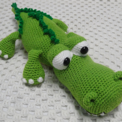 Crocodile, READY TO POST, Crochet toy, boy gift