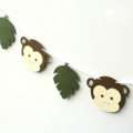 Jungle Monkey Party Banner. Little Monkey, First Birthday Party, Baby shower.