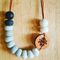 TASMANIAN MYRTLE AND POLYMER CLAY NECKLACE - Greys & Fleur
