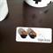 TASMANIAN MYRTLE EARRINGS - Black & Silver Glitter