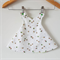 Pinafore Dress Reversible - Embroidered - Baby Girl Dress - Clothing- Bumble Bee