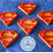 12x Edible Fondant Superman Cupcake Toppers