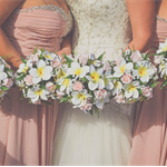 Frangipani & Rose Bridesmaid bouquets