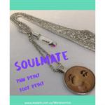 SOULMATE-paw print-foot print bookmark