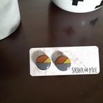 TASMANIAN MYRTLE EARRINGS - Grey & Yellow