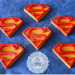 12x Edible Fondant Superman Cupcake Toppers