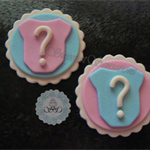 12 x  Edible Fondant Baby shower Onesies cupcake toppers
